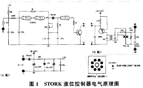 控制部分使用cmos集成电路cd4093组成检测,延时功能.